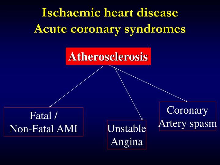 Ischaemic heart disease