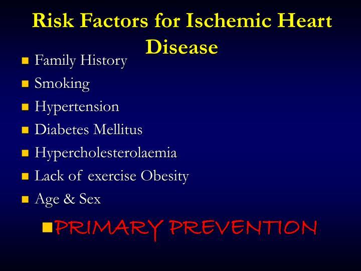 Risk Factors for Ischemic Heart Disease