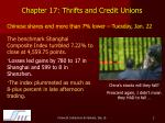 chapter 17 thrifts and credit unions