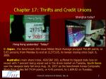chapter 17 thrifts and credit unions3