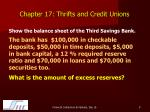 chapter 17 thrifts and credit unions7