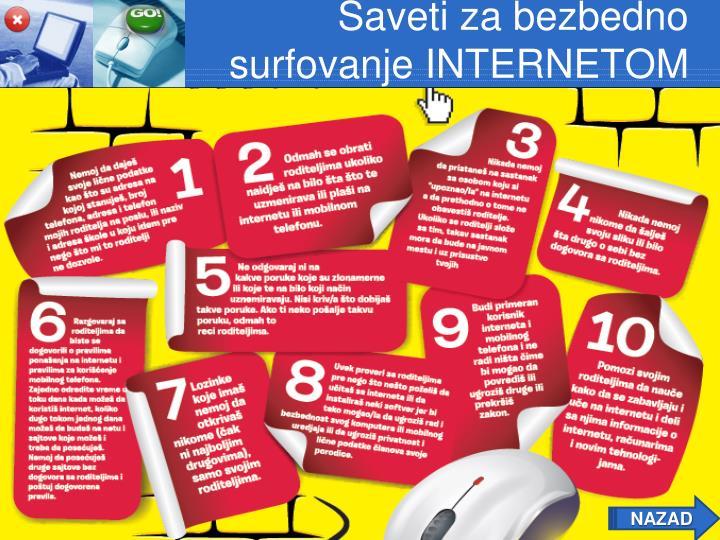 Saveti za bezbedno surfovanje INTERNETOM