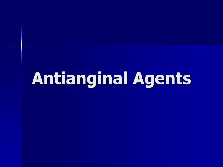 antianginal agents n.