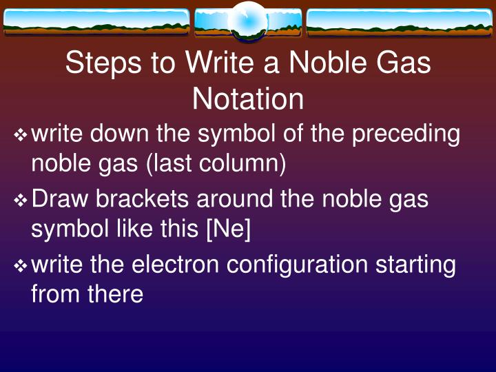 Ppt Noble Gas Notation Powerpoint Presentation Id5169524
