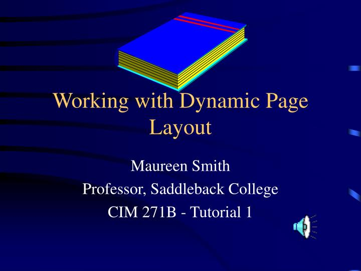 working with dynamic page layout n.