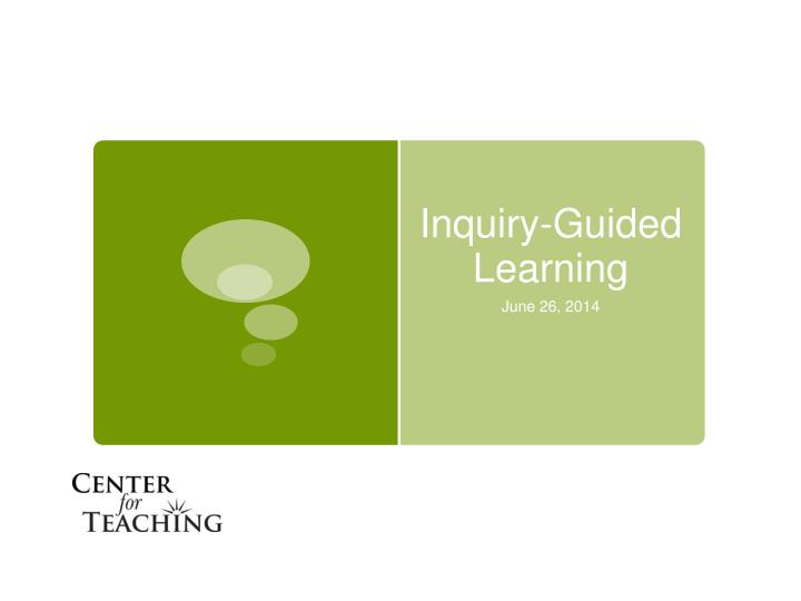 inquiry guided learning n.