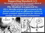 supporting standard 17 the student understands the economic effects of world war ii the cold war2