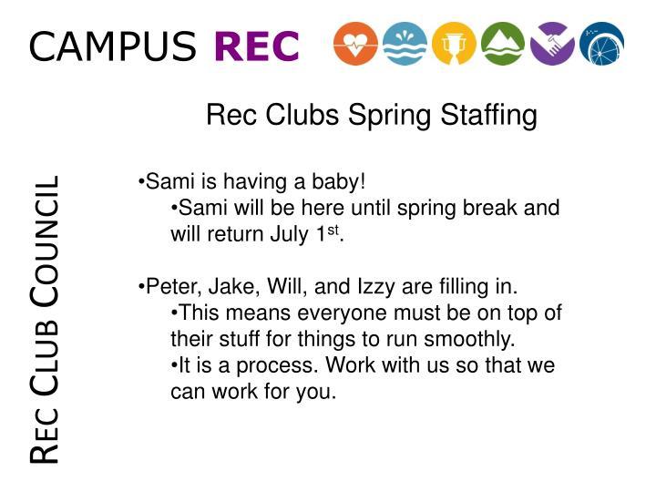 Rec Club Council
