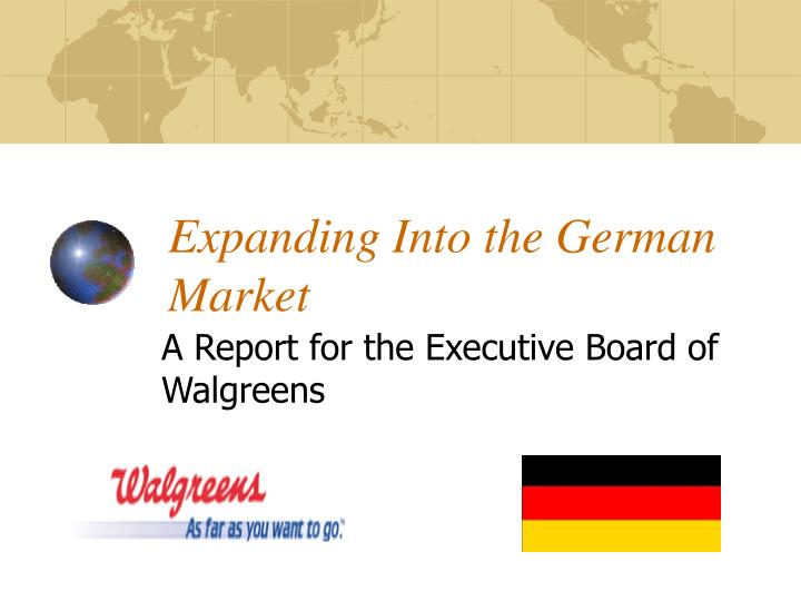 expanding into the german market n.