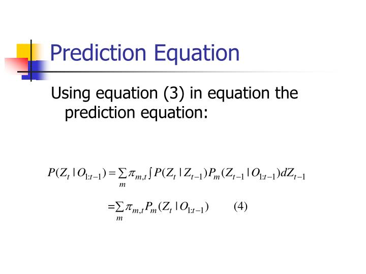 Prediction Equation