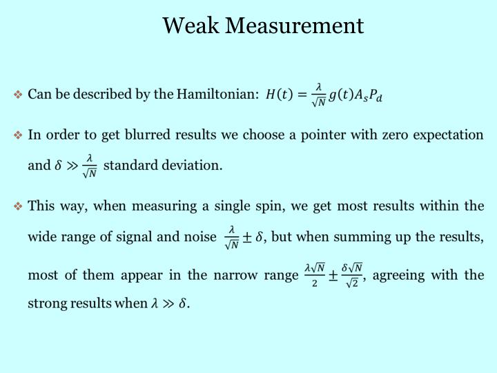 Weak Measurement