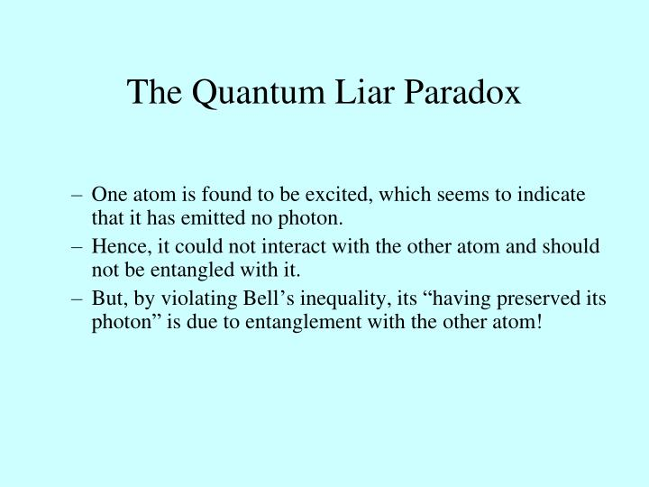 The Quantum Liar Paradox