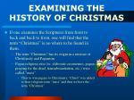 examining the history of christmas