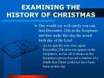 examining the history of christmas1