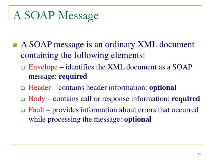 A SOAP Message