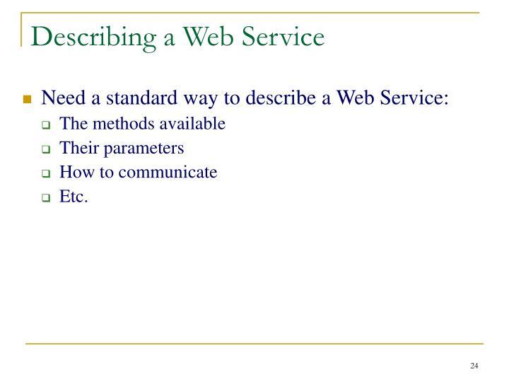 Describing a Web Service
