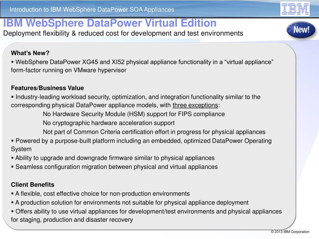 PPT - Intro to DataPower IBM WebSphere SOA Appliances