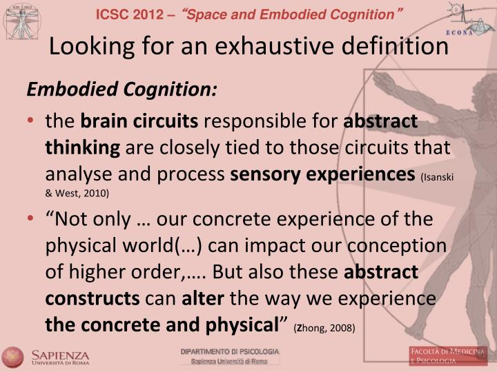 Looking for an exhaustive definition