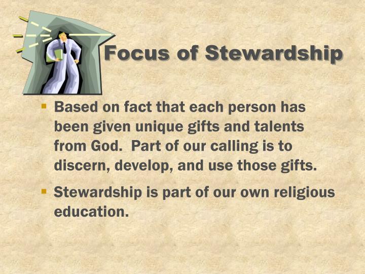 Focus of Stewardship