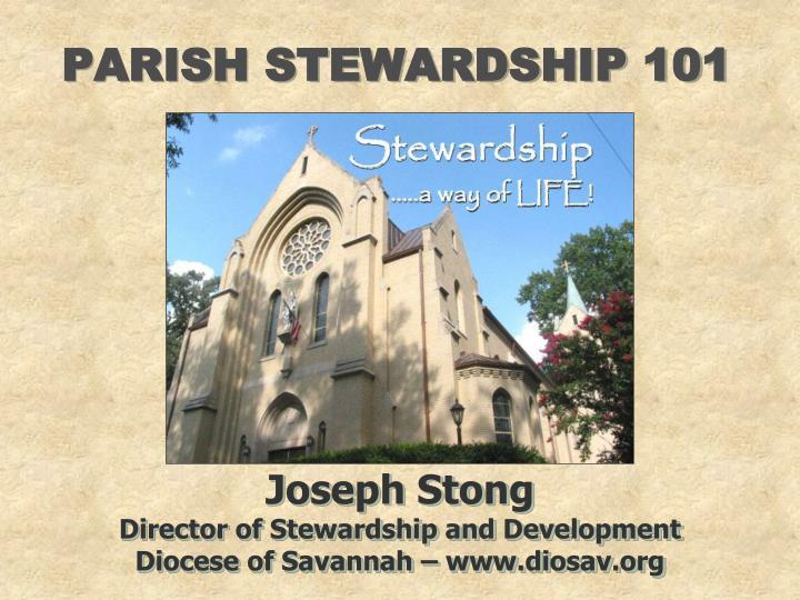 PARISH STEWARDSHIP 101