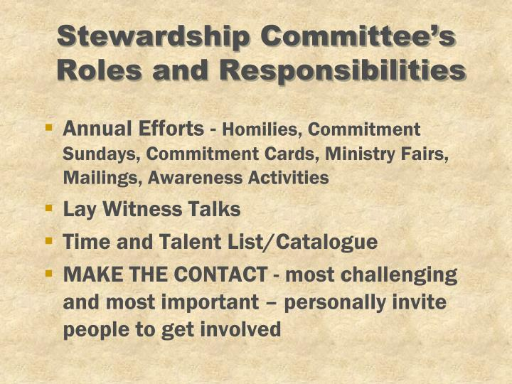 Stewardship Committee's