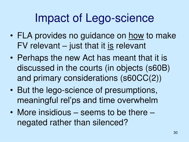 Impact of Lego-science