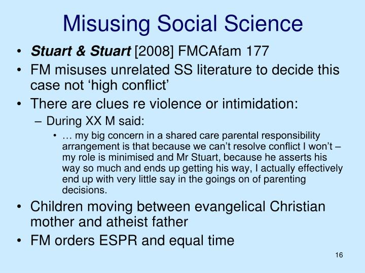 Misusing Social Science