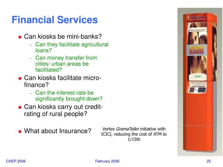 Can kiosks be mini-banks?