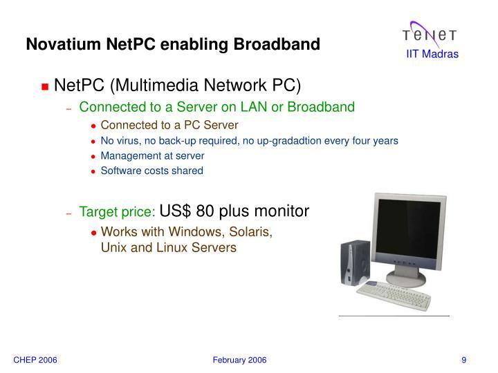 Novatium NetPC enabling Broadband