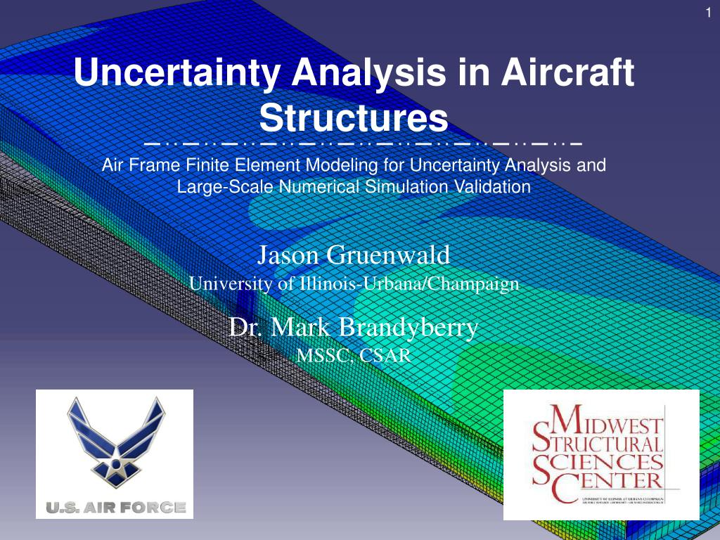 PPT - Uncertainty Analysis in Aircraft Structures PowerPoint