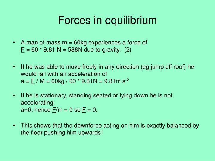 Forces in equilibrium