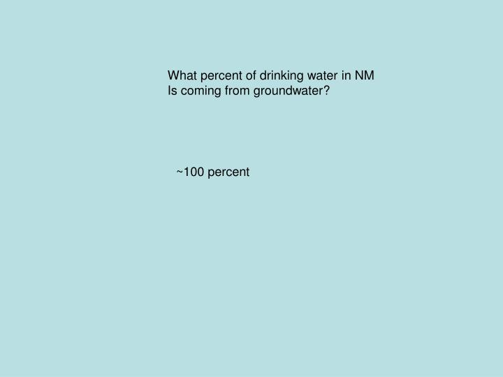 What percent of drinking water in NM