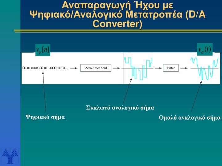 Αναπαραγωγή Ήχου με Ψηφιακό/Αναλογικό Μετατροπέα (