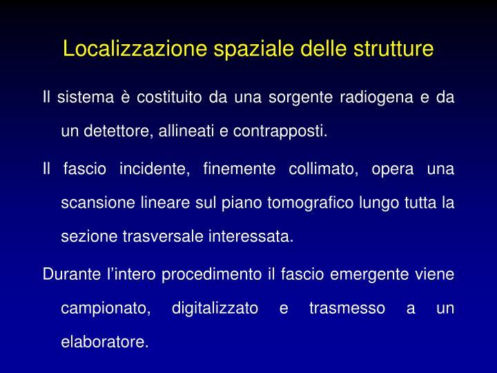 Localizzazione spaziale delle strutture