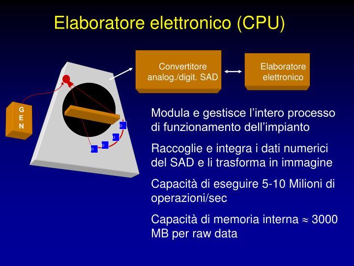 Elaboratore elettronico (CPU)