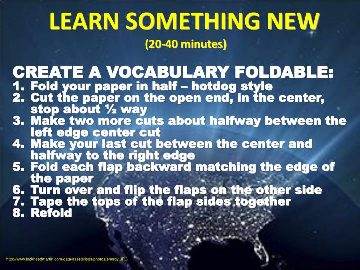 LEARN SOMETHING NEW
