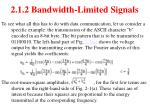 2 1 2 bandwidth limited signals