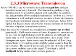 2 3 3 microwave transmission