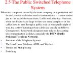2 5 the public switched telephone system