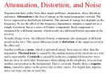 attenuation distortion and noise