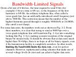 bandwidth limited signals3