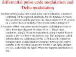 differential pulse code modulation and delta modulation