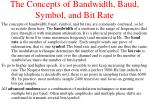 the concepts of bandwidth baud symbol and bit rate
