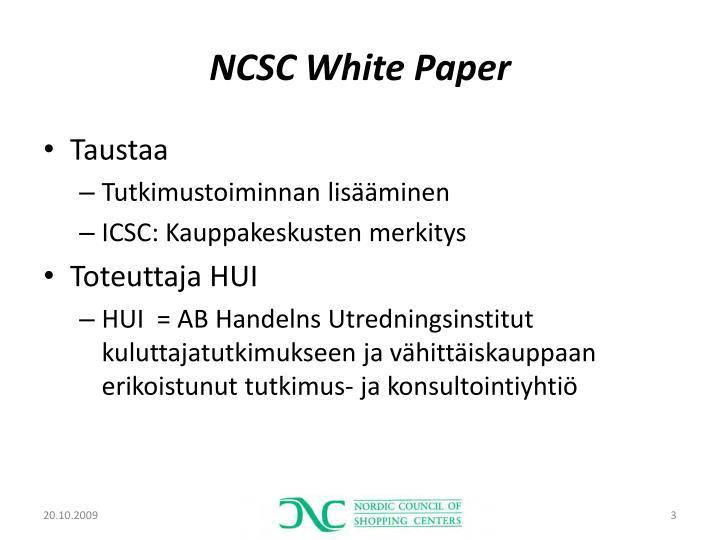 Ncsc white paper
