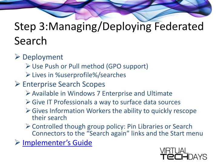Step 3:Managing/Deploying