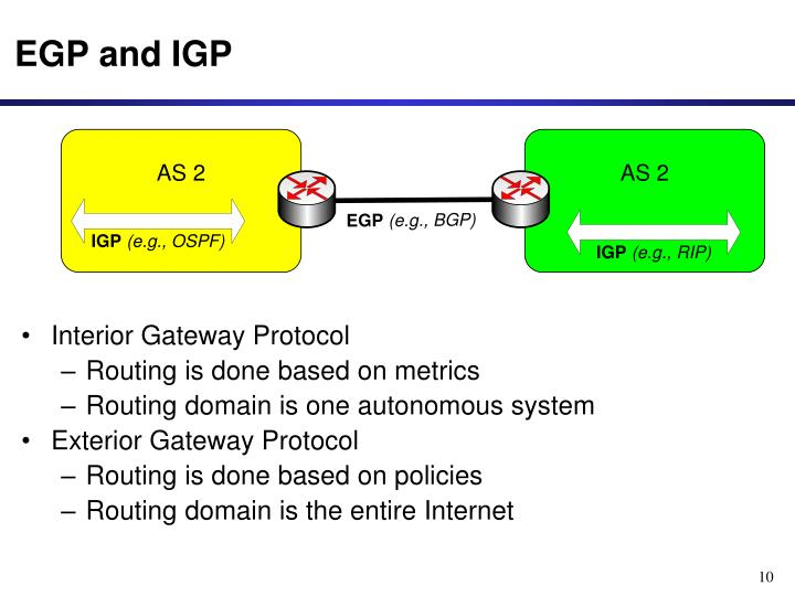 EGP and IGP