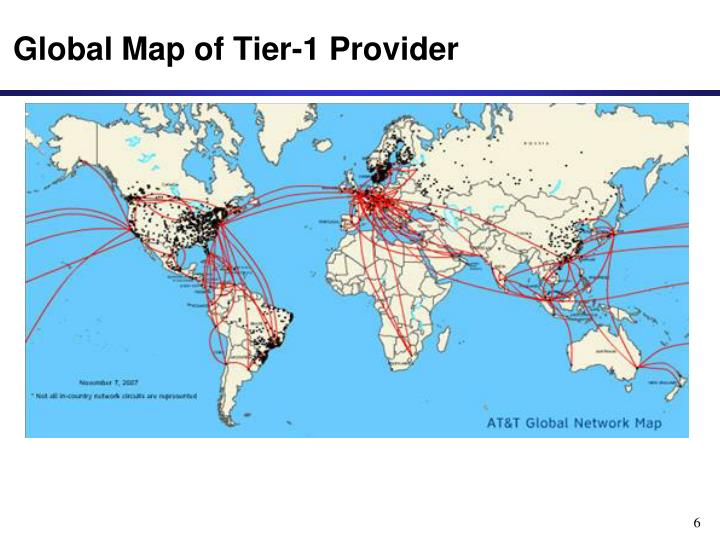 Global Map of Tier-1 Provider