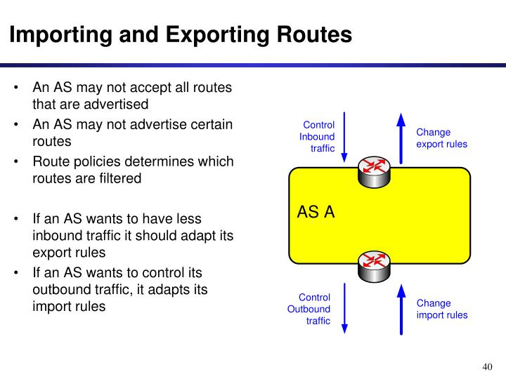 Importing and Exporting Routes