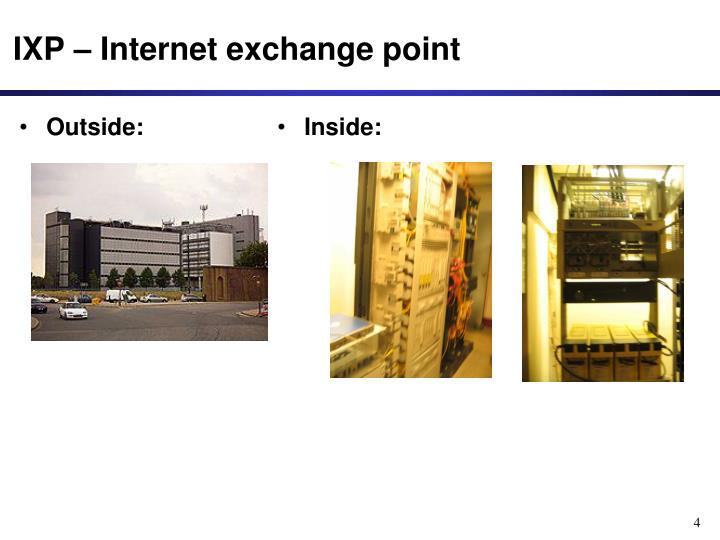 IXP – Internet exchange point