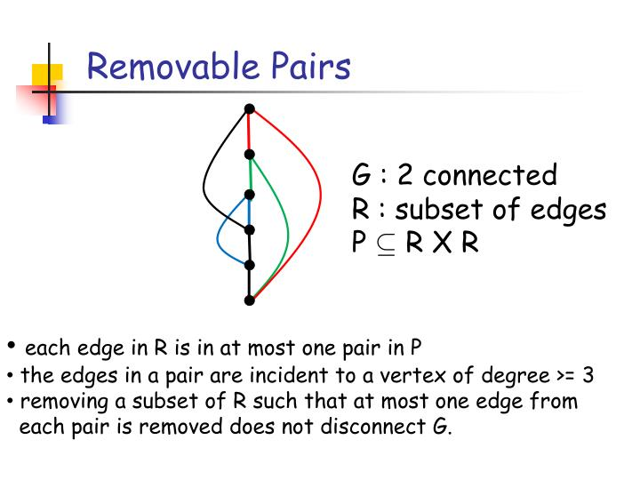 Removable Pairs
